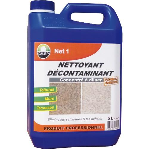Le DALEP NET 1 est un nettoyant décontaminant puissant qui dissout lessalissures, la pollution, les graisses, les traces de suie, les algues, lichens, champignons… Économique et performant.