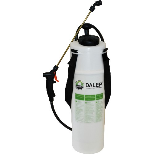Pulvérisateur DALEP professionnel à pression préalable, capacité 8 litres.  Livré avec lance Profile de 60 cm.Tuyauterie haute résistance, pour tous produits industriels et solvantés.