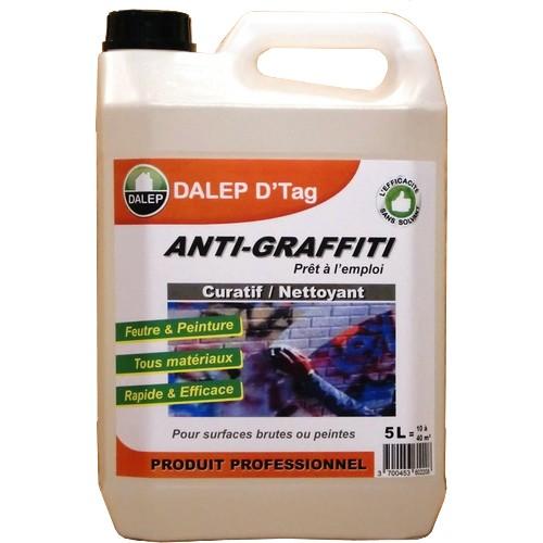 DALEP D'TAG Nettoyant graffiti pour enlever tous les types de graffitis. Curatif: élimine les tags peinture..