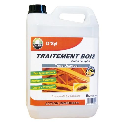 DALEP Traitement Bois Tous Usages D'XYL est un produit « prêt à l'emploi » insecticide, fongicide etantitermites, pour le traitement préventif et curatif.