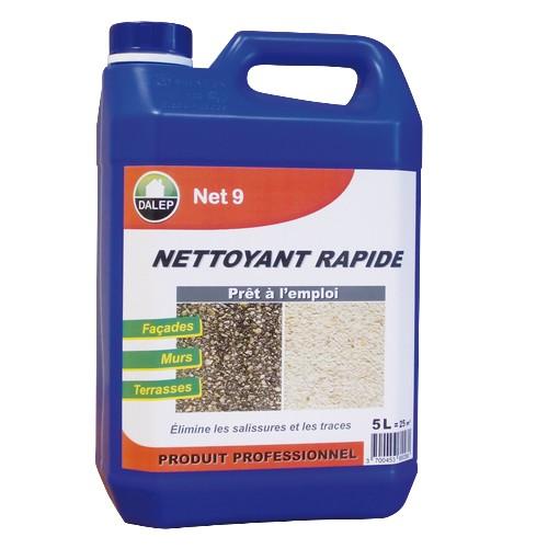 Le DALEP NET 9 Nettoyant Rapide est un rénovateur façades / nettoyant puissant qui élimine les salissures, les traces de pollution…