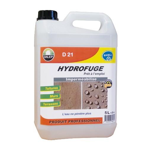 D 21 HYDROFUGE & OLEOFUGE à pulvériser (5L) un produit au fort pouvoir imperméabilisant contre l'eau et les graisses. Il s'applique sur toitures, murs, terrasses… Non filmogène,