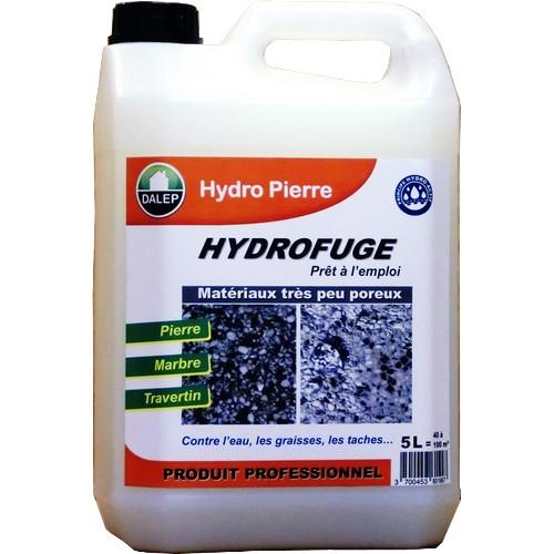 Dalep HYDRO-PIERRE Hydrofuge / Oléofuge (5L) est un hydrofuge spécialement conçu pour les matériaux très peu poreux et/ou sensibles,