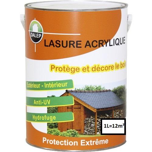 Lasure Acrylique Protection Extrême (1L) Protège et décore les bois neufs et anciens. Imperméabilise le bois et le protège contre les rayons UV du soleil. Séchage en 2 heures Qualité Professionnelle