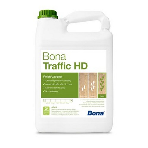 Bona Traffic HD extra mat (4,95L) finition à séchage ultra rapide pour les parquets exposés à une usure importante. le traffic est rétabli en 12 heures.