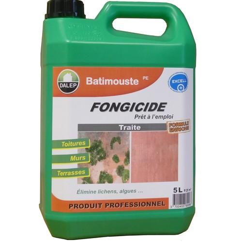 DALEP BATIMOUSSE PE (5L) est un fongicide prêt à l'emploi qui traite tous les supports contre les algues, lichens, champignons