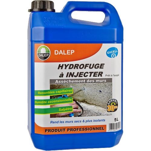 DALEP HYDROFUGE à INJECTER (5L) Contre les remontées capillaires, l'humidité ascensionnelle, le salpêtre…