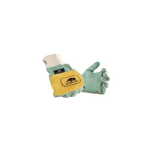 Gants de bucheronnage anti-vibrations Gants de travail anti-vibration assemblés avec des coutures aramide sont composés d'un cuir pleine fleur de haute qualité. Ils offrent une bonne dextérité en tenant la tronçonneuse.