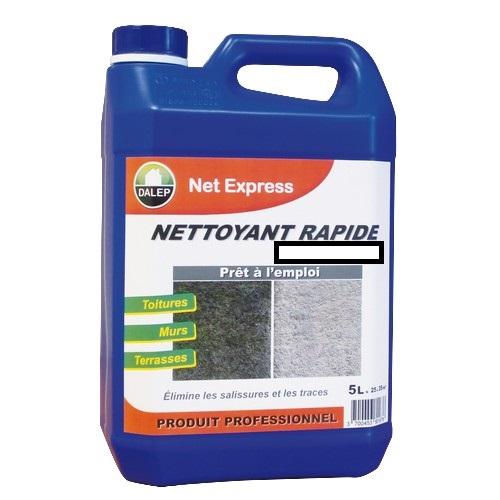 Le NET EXPRESS est un nettoyant, rénovateur, désincrustant à action rapide. Il élimine les salissures, les traces de pollution.toitures, murs, terrasses… Prêt à l'emploi.