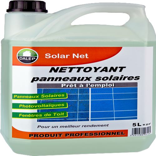 SOLAR NET Nettoyant Panneaux Solaires (20L) SOLAR NET® nettoie efficacement tous les types de panneaux et fenêtres de toit. Non agressif et non corrosif