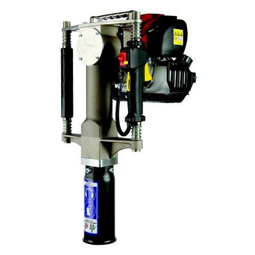 l'enfonce pieux thermique Pajot peut être utilisé pour enfoncer des poteaux de signalisation routière (panneaux de signalisation, glissières de sécurité), des poteaux et piquets bois de clôtures ou de tunage mais également des pieux d'ancrages