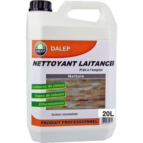 DALEP Nettoyant Laitances de ciment (20L) enleve les traces de ciment, béton, laitances, chaux, tartre sursurfaces dures.