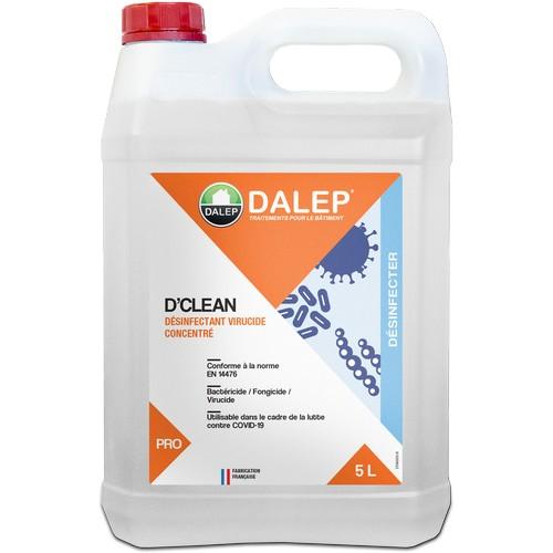 D'CLEAN est un désinfectant Bactéricide / Fongicide / Virucide pour la désinfection des sols et surfaces lavables de tous locaux.